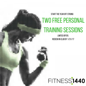 come in for 2 free personal training sessions fitness 1440