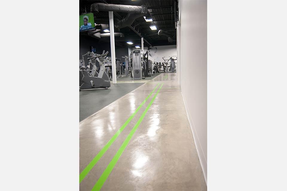 Fitness 1440 gym cardio track
