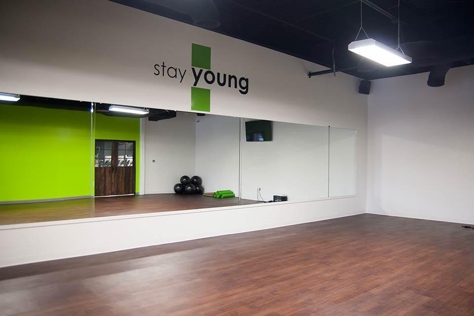 Fitness 1440 gym aerobics room