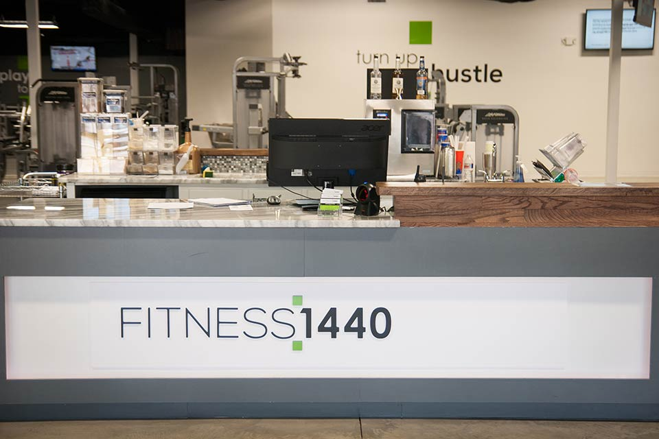 Fitness 1440 gym front desk
