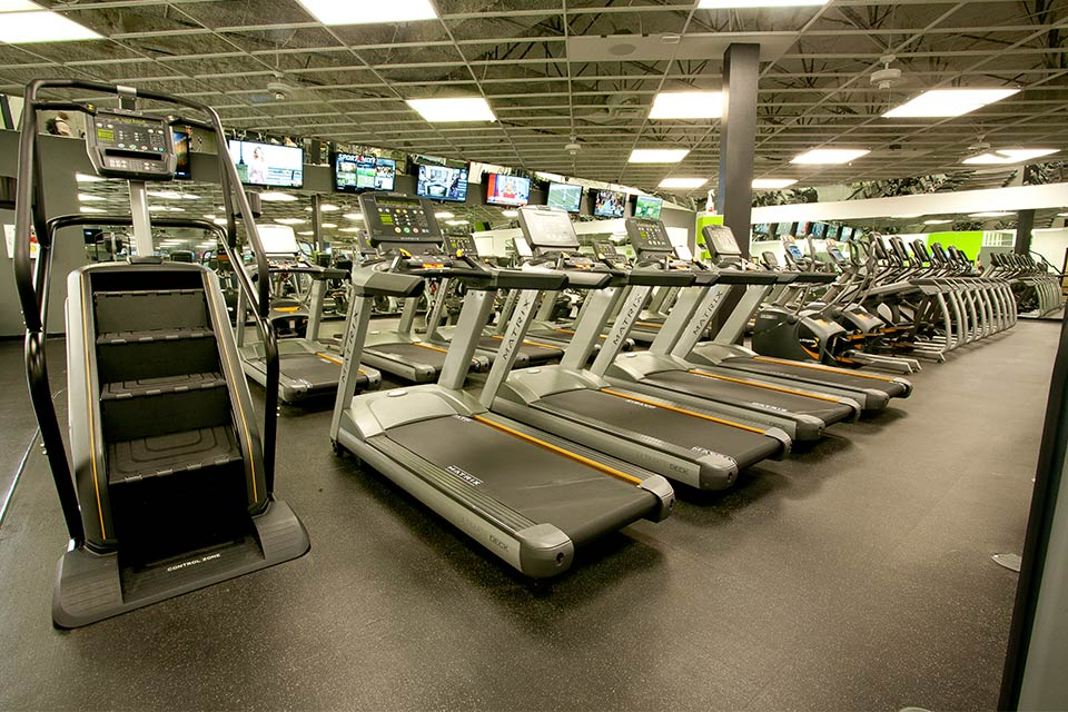 Fitness 1440 gym cardio area
