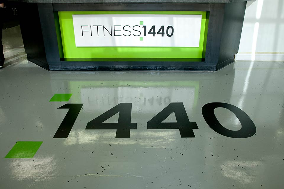 Fitness 1440 gym interior style