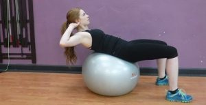 Fitness 1440 Stability Ball Crunches